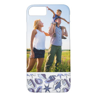 Custom Photo Lavendar Seashells iPhone 8/7 Case