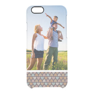 Custom Photo Leaf pattern 2 Clear iPhone 6/6S Case