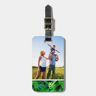 Custom Photo Leaves Of Tropical Palm Trees Luggage Tag