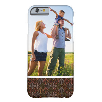 Custom Photo Leaves pattern Barely There iPhone 6 Case
