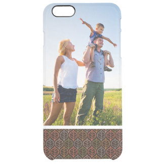 Custom Photo Leaves pattern Clear iPhone 6 Plus Case