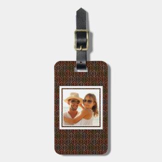 Custom Photo Leaves pattern Luggage Tag
