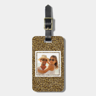 Custom Photo Leopard Fur Luggage Tag
