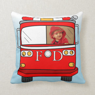 Custom Photo Little Firefighter Pillow