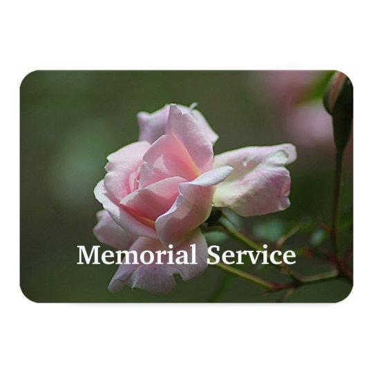 Custom Photo Memorial Service Invite Rose Flower