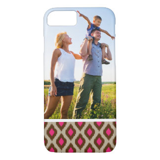 Custom Photo Modern ikat pattern iPhone 8/7 Case