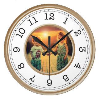 Custom Photo Modern Minimalist Large Clock