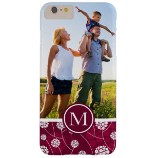 Custom Photo & Monogram Abstract floral pattern Barely There iPhone 6 Plus Case