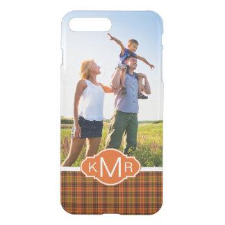 Custom Photo & Monogram Bright Fall Plaid iPhone 8 Plus/7 Plus Case