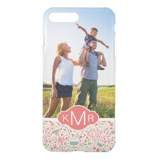 Custom Photo & Monogram Bright floral pattern iPhone 8 Plus/7 Plus Case