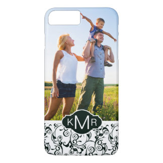 Custom Photo & Monogram Damask iPhone 8 Plus/7 Plus Case