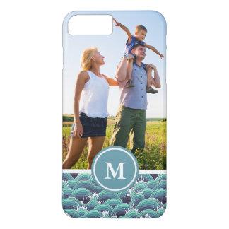 Custom Photo & Monogram Decorative Sea Wave iPhone 8 Plus/7 Plus Case