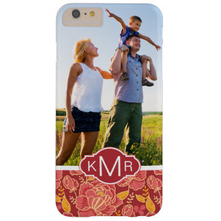 Custom Photo & Monogram Fall Garden Pattern Barely There iPhone 6 Plus Case
