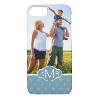 Custom Photo & Monogram Fleur-de-lis pattern iPhone 8/7 Case