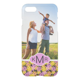 Custom Photo & Monogram Gerbera flowers pattern iPhone 8/7 Case