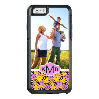 Custom Photo & Monogram Gerbera flowers pattern OtterBox iPhone 6/6s Case