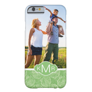 Custom Photo & Monogram Outline seashells Barely There iPhone 6 Case
