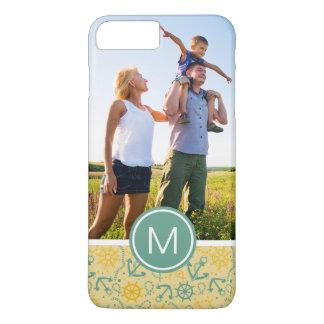 Custom Photo & Monogram Retro Anchor & Ropes iPhone 8 Plus/7 Plus Case