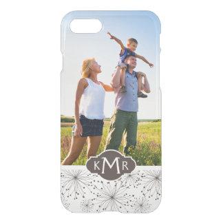 Custom Photo & Monogram Retro floral background iPhone 8/7 Case