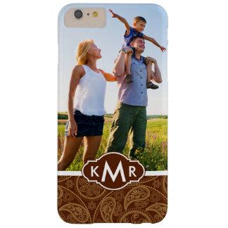 Custom Photo & Monogram Retro mandala pattern Barely There iPhone 6 Plus Case