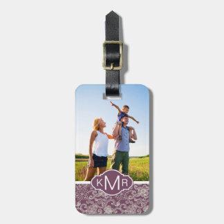 Custom Photo & Monogram Retro pattern Luggage Tag