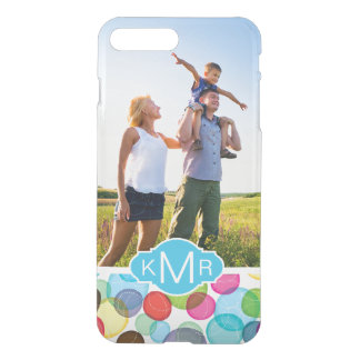 Custom Photo & Monogram Round bubbles pattern 2 iPhone 8 Plus/7 Plus Case