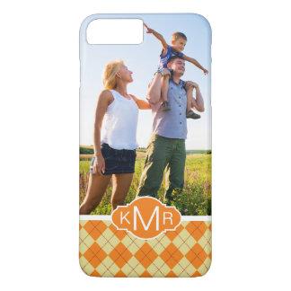 Custom Photo & Monogram Sweater Background iPhone 8 Plus/7 Plus Case