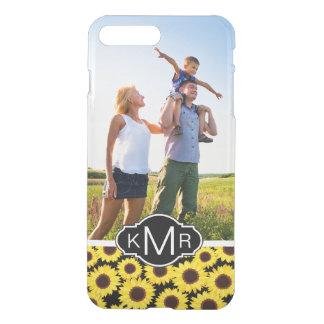 Custom Photo & Monogram with sunflowers iPhone 8 Plus/7 Plus Case