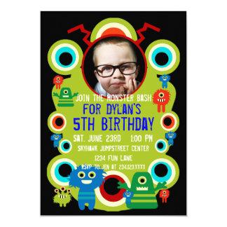 "Custom Photo Monster Birthday Party Invitations 5"" X 7"" Invitation Card"