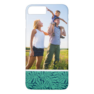 Custom Photo Monstera Tropical Leaf Pattern iPhone 8 Plus/7 Plus Case