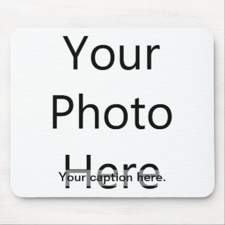 Custom Photo Mousepad with Caption (Black Text)