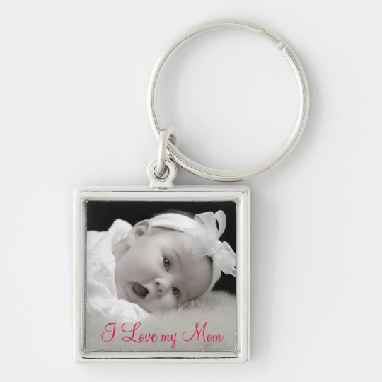 Custom Photo, Mum, Mother's Day Key Ring