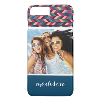 Custom Photo & Name Abstract Colorful Industrial iPhone 8 Plus/7 Plus Case