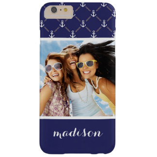 Custom Photo & Name Anchor pattern Barely There iPhone 6 Plus Case