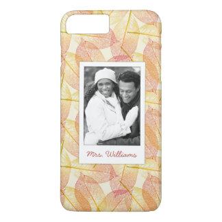 Custom Photo & Name Autumn Leaves iPhone 8 Plus/7 Plus Case