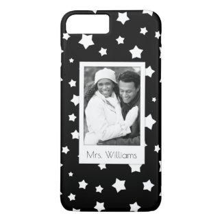 Custom Photo & Name Black and white stars pattern iPhone 8 Plus/7 Plus Case