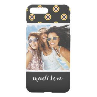 Custom Photo & Name Candy Corn Pattern iPhone 8 Plus/7 Plus Case