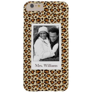 Custom Photo & Name Cheetah skin pattern Barely There iPhone 6 Plus Case