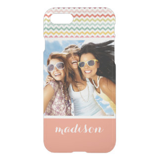 Custom Photo & Name Chevron Pattern 4 iPhone 8/7 Case