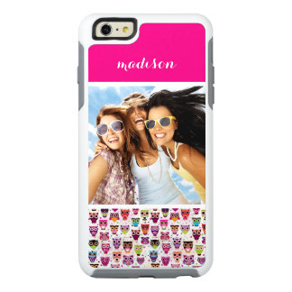Custom Photo & Name Cute owl pattern OtterBox iPhone 6/6s Plus Case