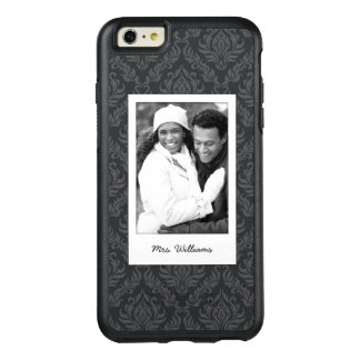 Custom Photo & Name Damask Pattern 6 OtterBox iPhone 6/6s Plus Case