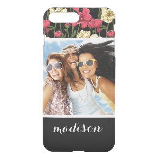 Custom Photo & Name Elegant floral pattern 2 iPhone 8 Plus/7 Plus Case