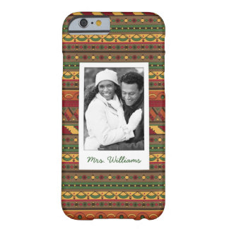 Custom Photo & Name Ethnic background Barely There iPhone 6 Case