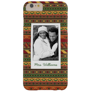 Custom Photo & Name Ethnic background Barely There iPhone 6 Plus Case