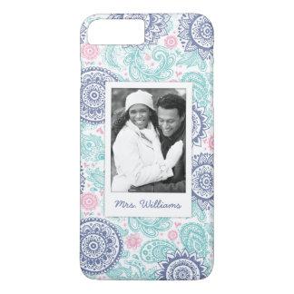 Custom Photo & Name Ethnic Paisley Pattern iPhone 8 Plus/7 Plus Case