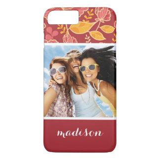 Custom Photo & Name Fall Garden Pattern iPhone 8 Plus/7 Plus Case