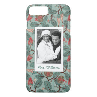 Custom Photo & Name Floral Pattern 12 iPhone 8 Plus/7 Plus Case