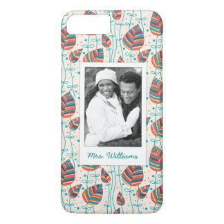 Custom Photo & Name Floral pattern 5 iPhone 8 Plus/7 Plus Case