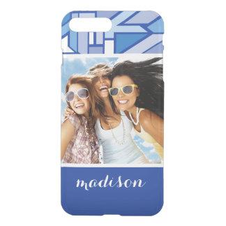 Custom Photo & Name Geometric pattern 2 iPhone 8 Plus/7 Plus Case