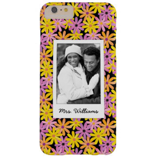 Custom Photo & Name Gerbera flowers pattern Barely There iPhone 6 Plus Case